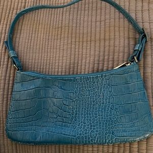 Express Blue Leather Purse